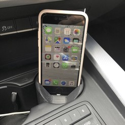 Download free 3D printer model Car Cup Holder iPhone 7/8 Dock, biohazard