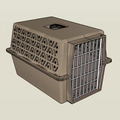 Download 3D printer templates 1/10 Large Pet Carrier, FrozenRC