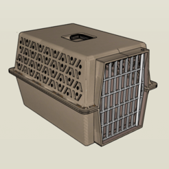 Download 3D printer templates 1/10 Large Pet Carrier, FrozenRC