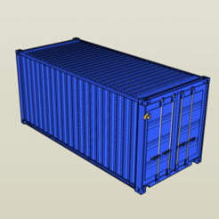 Download 3D printer model 1/14 Scale 20' Seacan Shipping Container, FrozenRC