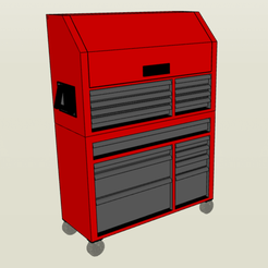 3D print model 1/10 Rolling Tool Chest, FrozenRC