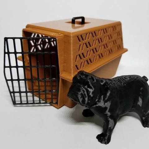 3D print model 1/10 Large Pet Carrier, FrozenRC