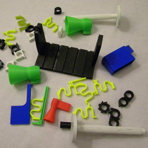 P0.4_-_All_parts_display_large.JPG Télécharger fichier STL gratuit Mon 3D (Dream Drum Design) • Objet pour imprimante 3D, Tanleste46