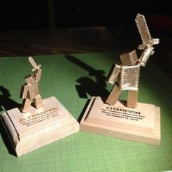 Download free 3D printing files Minecraft Tournament Trophy, Tanleste46