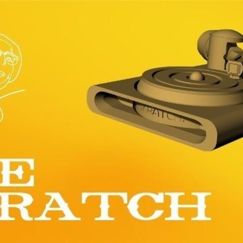 Télécharger fichier imprimante 3D gratuit THE SKRATCH - Mini plateau tournant pour gratter, Tanleste46