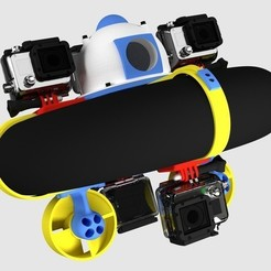 Free 3D printer designs JALC Boat GoPro Adapter up to 5 cameras., Tanleste46