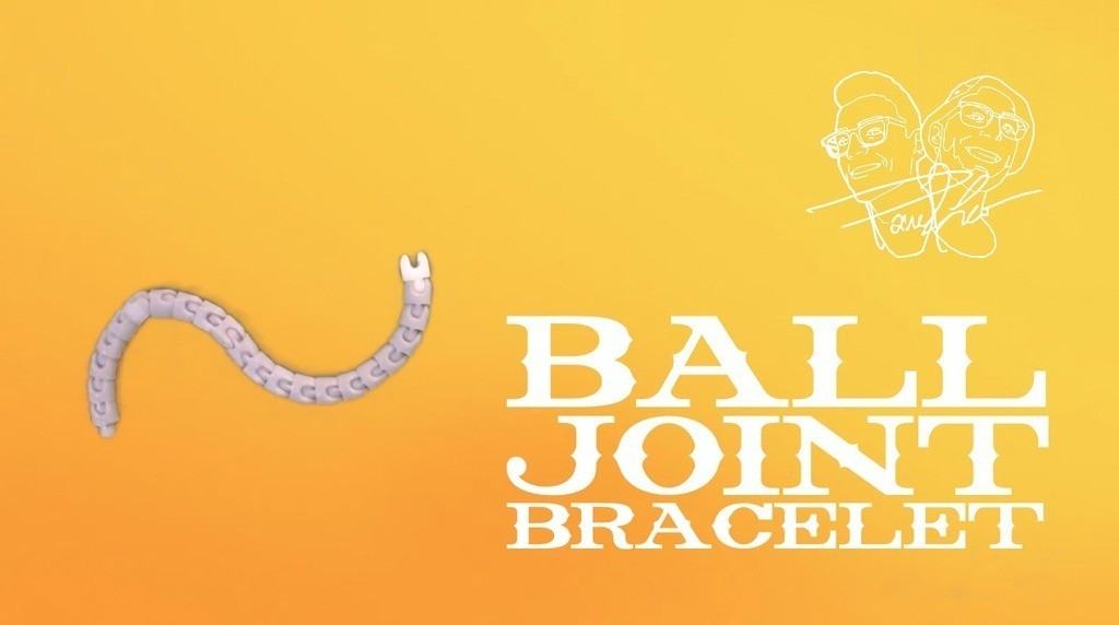 BALLJOINTBRACpic1_display_large.jpg Télécharger fichier STL gratuit Bracelet à rotule • Modèle pour impression 3D, Tanleste46