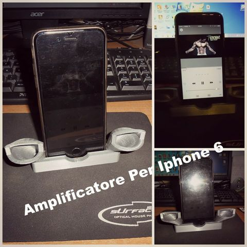 Free 3D printer model Amplifier Iphone 6, Tanleste46