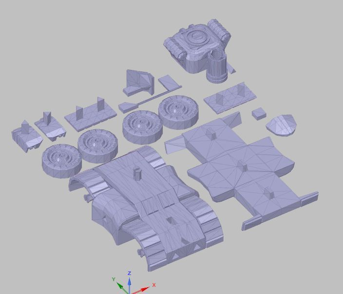 toy tank 3d print.JPG Download free OBJ file toy tank 3d print • 3D printing model, SanderDesign