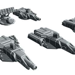 Download free STL file Gadfly Weapon Options • Design to 3D print, cgloewenherz