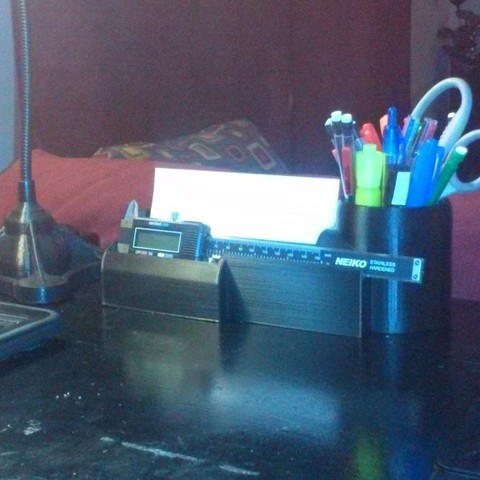 CAM00347_display_large.jpg Download free STL file Desk Organizer for Caliper • 3D printable model, Balkhagal4D