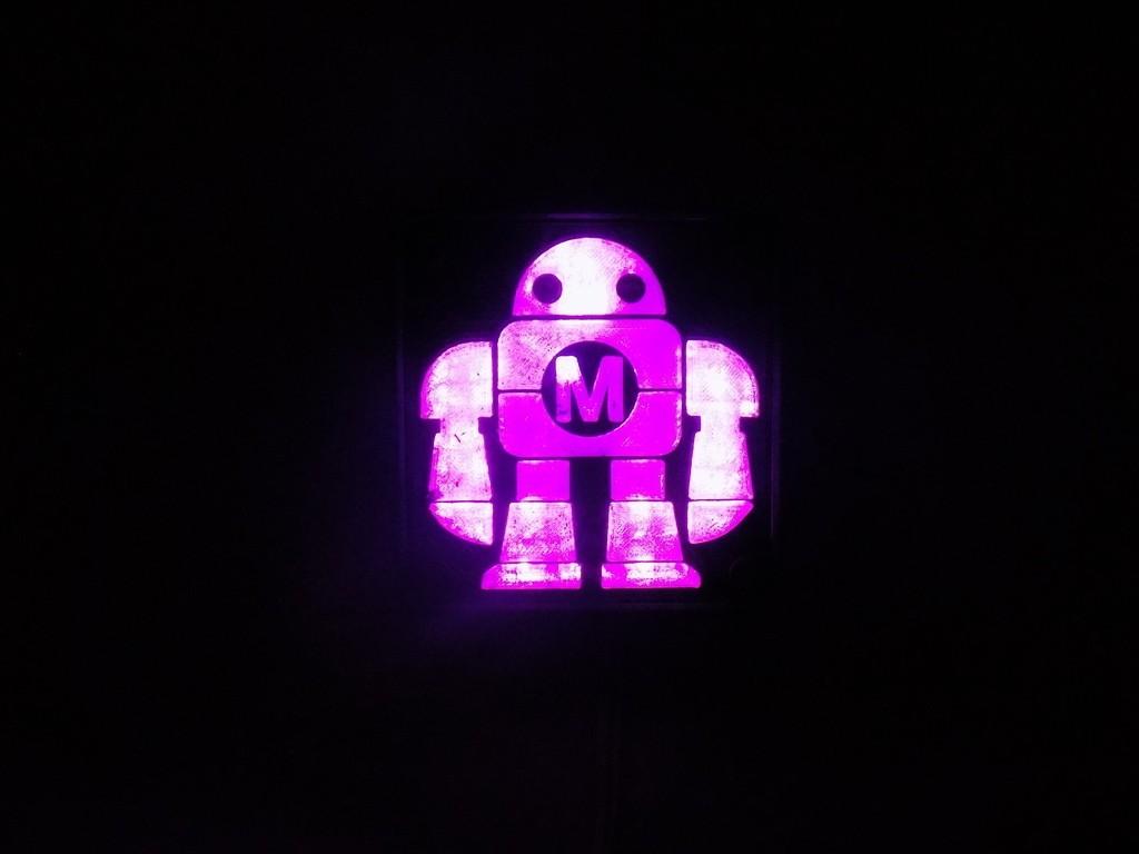 DSCN0231_display_large.JPG Télécharger fichier STL gratuit Maker Faire LED Enseigne de robot / veilleuse de nuit • Objet à imprimer en 3D, Balkhagal4D
