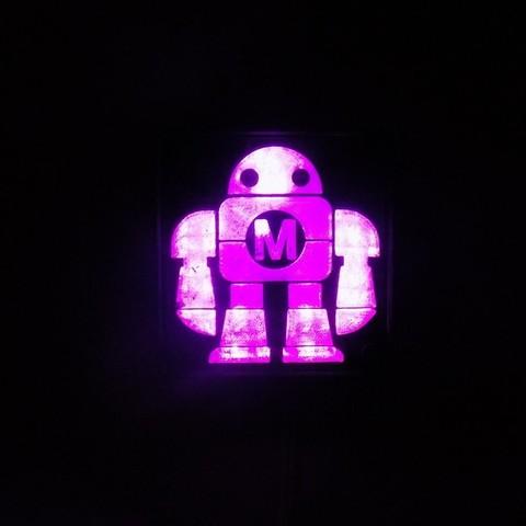 DSCN0231_display_large.JPG Download free STL file Maker Faire LED Robot sign/nightlight • 3D printer object, Balkhagal4D