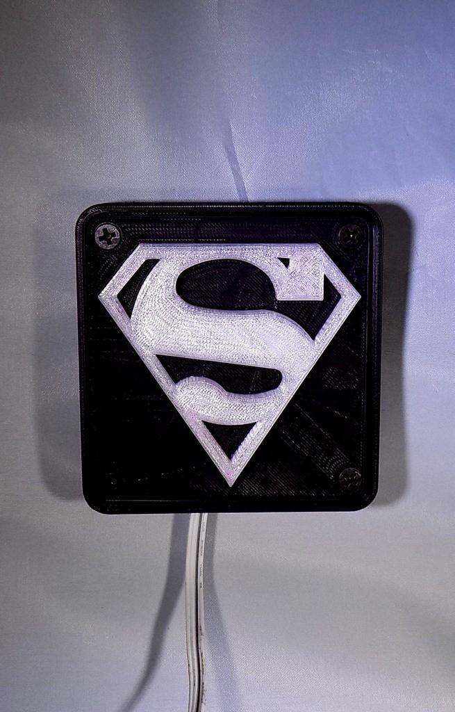 1_display_large.JPG Télécharger fichier STL gratuit SUPERMAN LED Lumière / Lumière de nuit • Plan imprimable en 3D, Balkhagal4D