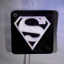 Free STL SUPERMAN LED Light/Nightlight, Balkhagal4D