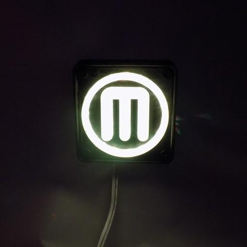 6_display_large.JPG Télécharger fichier STL gratuit Makerbot M Logo Lampe de nuit/lampe de nuit LED • Design à imprimer en 3D, Balkhagal4D
