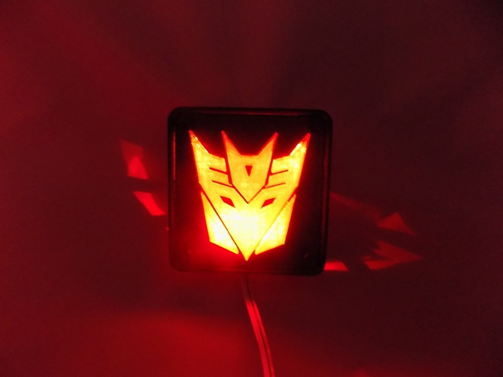 4_display_large.JPG Download free STL file Decepticon Transformers LED Nightlight/Lamp • 3D print model, Balkhagal4D