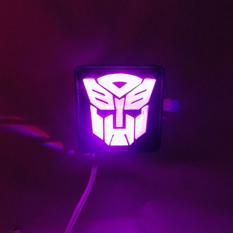 5_display_large.JPG Download free STL file Autobot Transformers LED Nightlight/Lamp • 3D printing template, Balkhagal4D
