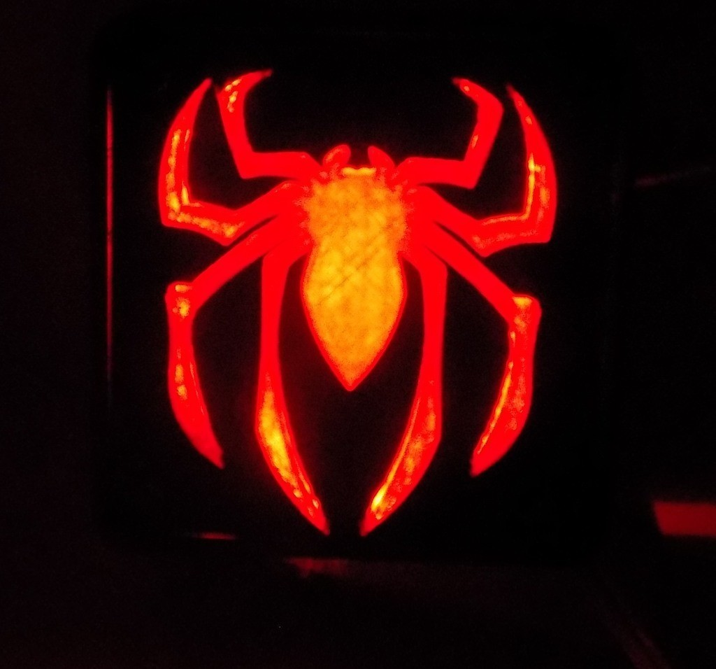 7_display_large.JPG Download free STL file SPIDERMAN LED Light/Nightlight • 3D print design, Balkhagal4D
