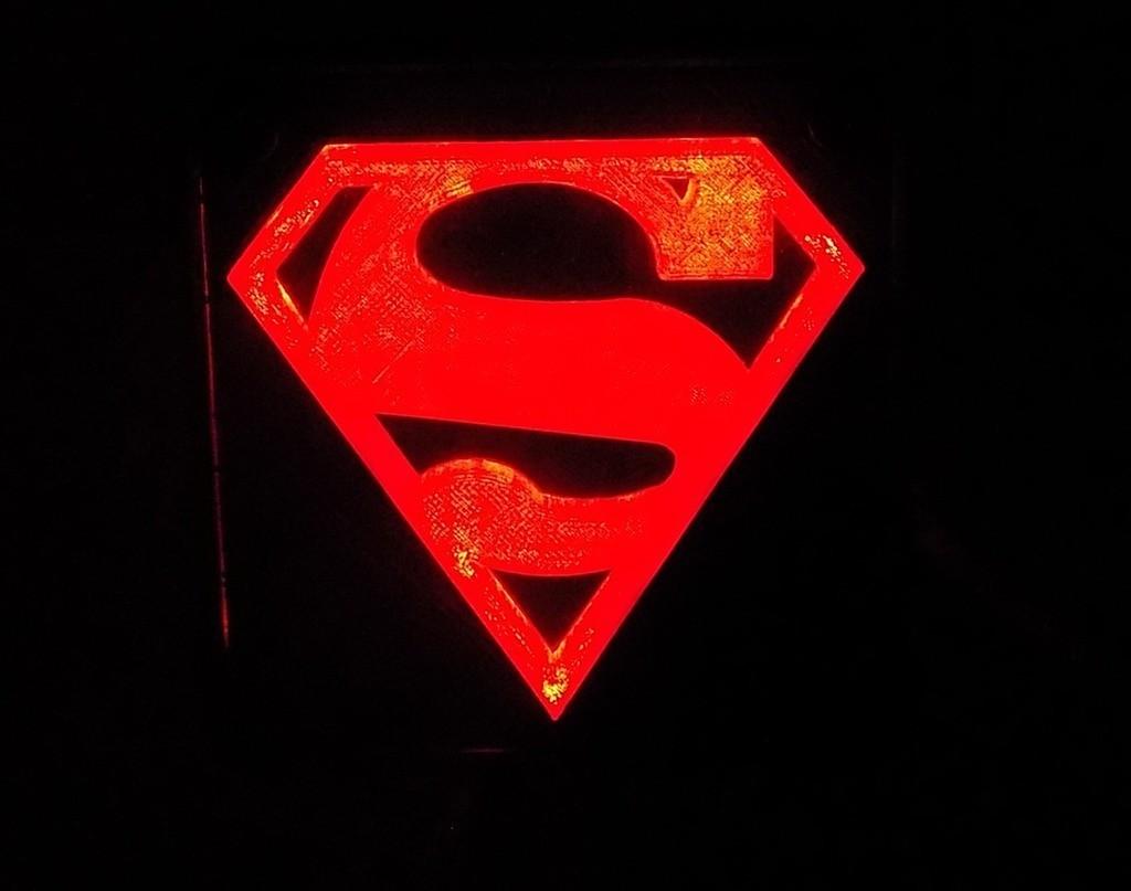 5_display_large.JPG Télécharger fichier STL gratuit SUPERMAN LED Lumière / Lumière de nuit • Plan imprimable en 3D, Balkhagal4D