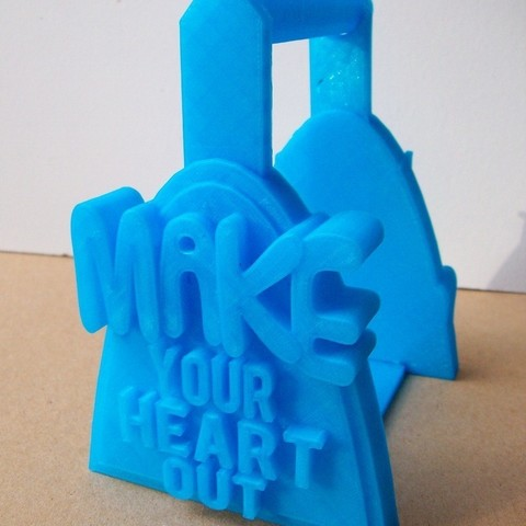 Download free 3D printer designs 'Make Your Heart Out' Filament Holder, Balkhagal4D