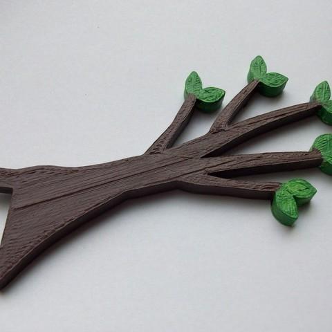 fichier 3d gratuit crochet et support pour d coration murale de branches d 39 arbres la poste. Black Bedroom Furniture Sets. Home Design Ideas