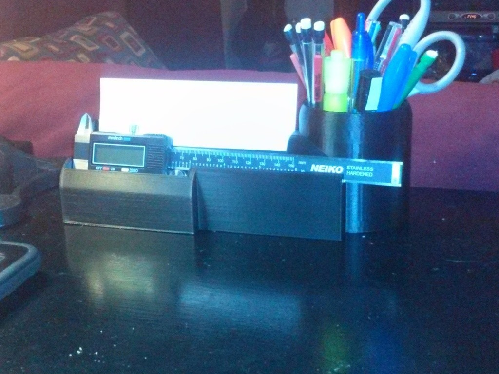CAM00345_display_large.jpg Download free STL file Desk Organizer for Caliper • 3D printable model, Balkhagal4D