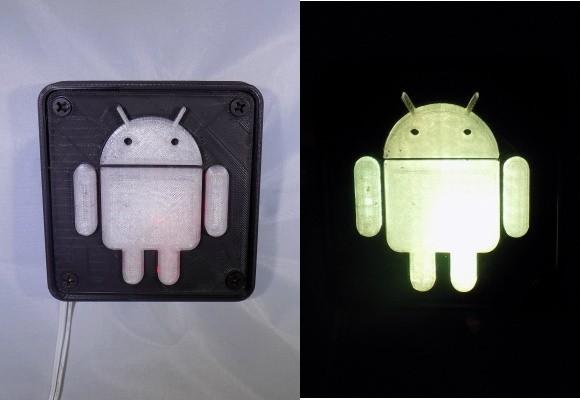 combine_images_display_large.jpg Télécharger fichier STL gratuit Lampe de nuit/lampe de nuit Android Robot LED • Plan à imprimer en 3D, Balkhagal4D