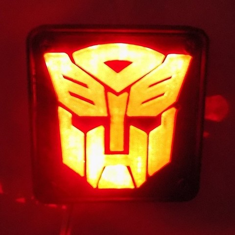 2_display_large.JPG Download free STL file Autobot Transformers LED Nightlight/Lamp • 3D printing template, Balkhagal4D
