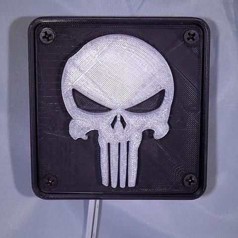 1_display_large.JPG Download free STL file Punisher LED Light/Nightlight • 3D printer object, Balkhagal4D