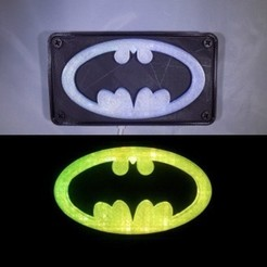 combine_images_display_large.jpg Download free STL file BATMAN LED Light/Nightlight • 3D print design, Balkhagal4D