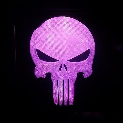 5_display_large.JPG Download free STL file Punisher LED Light/Nightlight • 3D printer object, Balkhagal4D