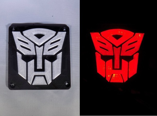 combine_images_display_large.jpg Download free STL file Autobot Transformers LED Nightlight/Lamp • 3D printing template, Balkhagal4D