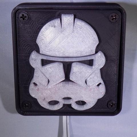 1_display_large.JPG Download free STL file StormTrooper LED Light/Nightlight • 3D print template, Balkhagal4D