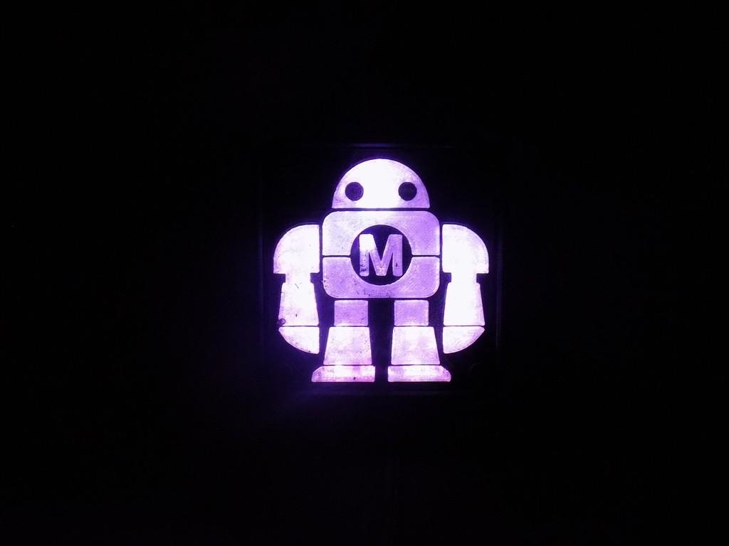 DSCN0233_display_large.JPG Download free STL file Maker Faire LED Robot sign/nightlight • 3D printer object, Balkhagal4D