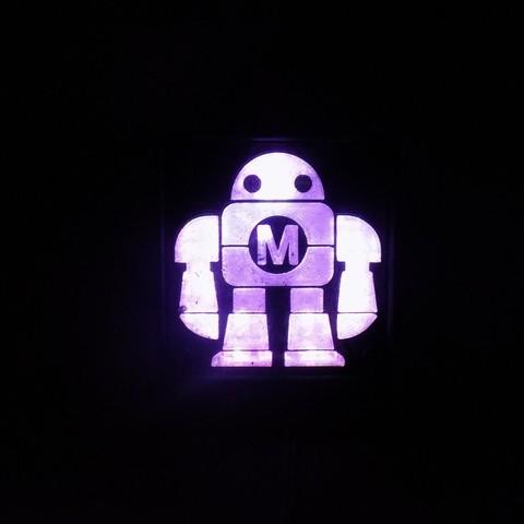 DSCN0233_display_large.JPG Télécharger fichier STL gratuit Maker Faire LED Enseigne de robot / veilleuse de nuit • Objet à imprimer en 3D, Balkhagal4D