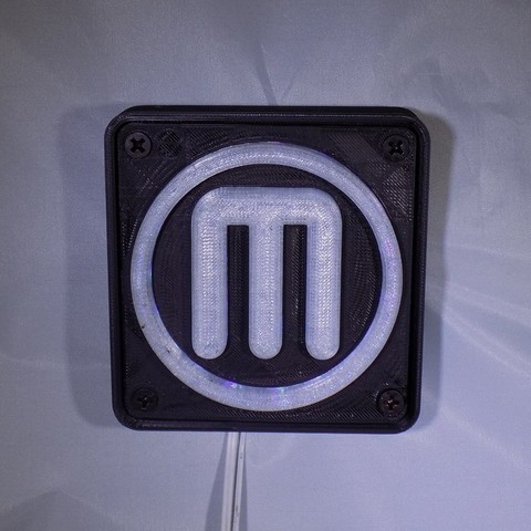 Download free STL Makerbot M Logo LED Nightlight/Lamp, Balkhagal4D