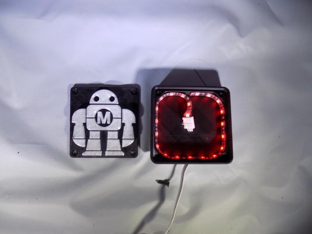 DSCN0226_display_large.JPG Télécharger fichier STL gratuit Maker Faire LED Enseigne de robot / veilleuse de nuit • Objet à imprimer en 3D, Balkhagal4D