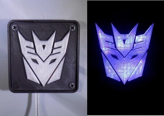 combine_images_display_large.jpg Download free STL file Decepticon Transformers LED Nightlight/Lamp • 3D print model, Balkhagal4D