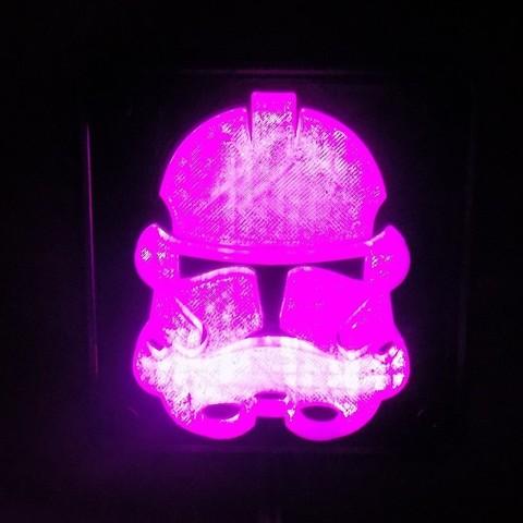 5_display_large.JPG Download free STL file StormTrooper LED Light/Nightlight • 3D print template, Balkhagal4D