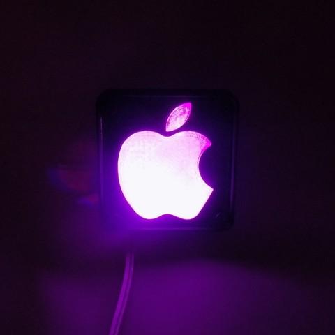 5_display_large.JPG Télécharger fichier STL gratuit Lampe de nuit / Lampe de nuit à DEL avec logo Apple • Plan pour imprimante 3D, Balkhagal4D