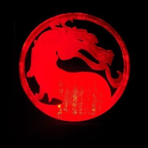 2_display_large.JPG Download free STL file Mortal Kombat LED Light/NightLight • Object to 3D print, Balkhagal4D