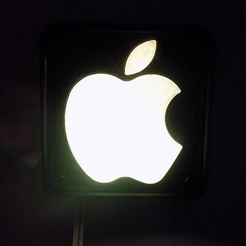 2_display_large.JPG Télécharger fichier STL gratuit Lampe de nuit / Lampe de nuit à DEL avec logo Apple • Plan pour imprimante 3D, Balkhagal4D