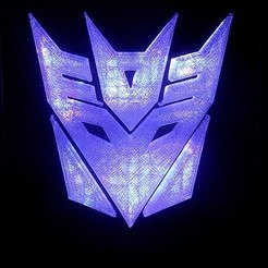 Free 3D printer files Decepticon Transformers LED Nightlight/Lamp, Balkhagal4D