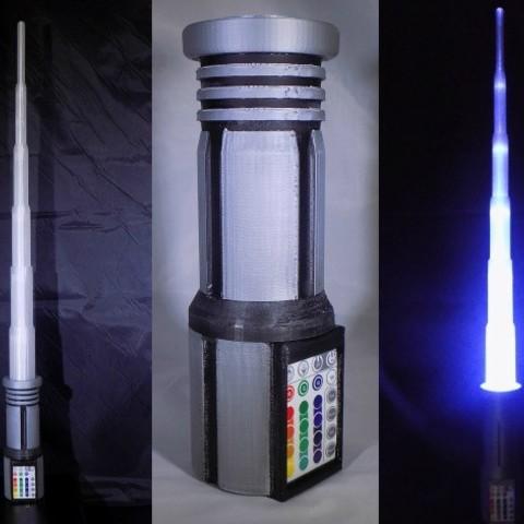 2_display_large.jpg Download free STL file LIGHTSABER - LED - Fully Functional • 3D printer template, Balkhagal4D