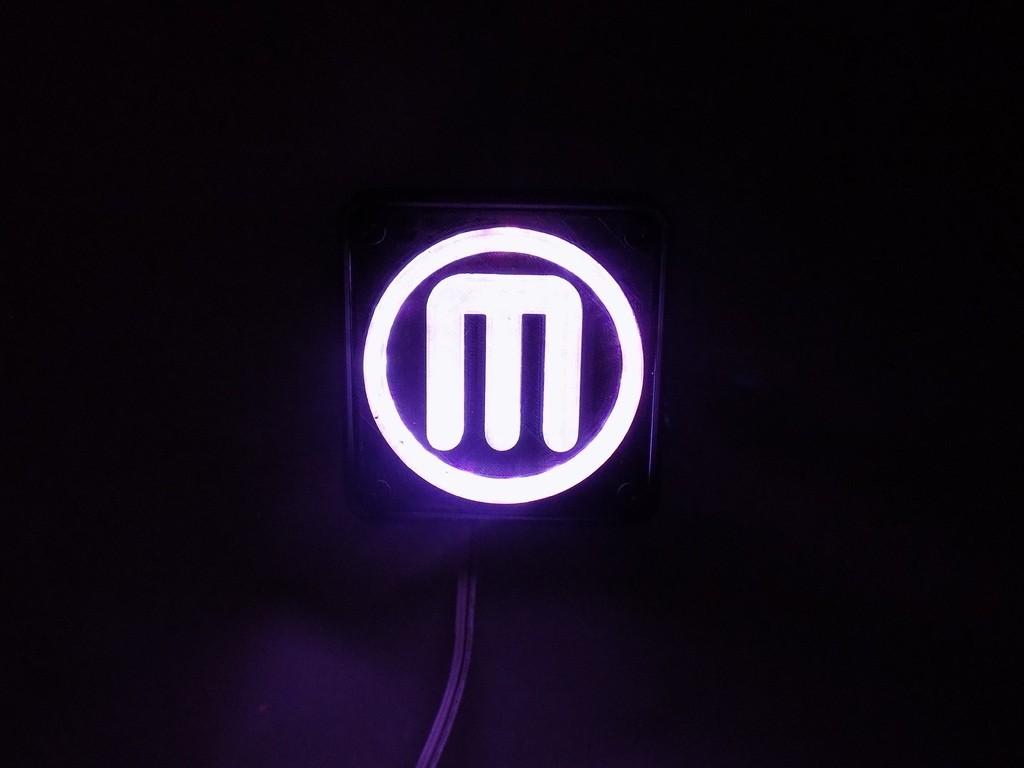 3_display_large.JPG Télécharger fichier STL gratuit Makerbot M Logo Lampe de nuit/lampe de nuit LED • Design à imprimer en 3D, Balkhagal4D