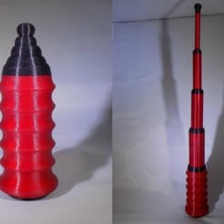Download free 3D printing templates BATON!!! Prints in One Print - Already Assembled, Balkhagal4D