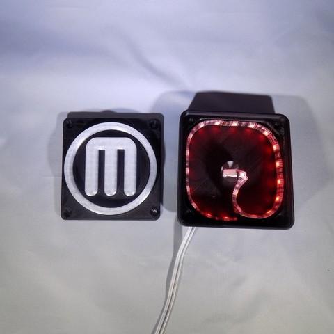 9_display_large.JPG Télécharger fichier STL gratuit Makerbot M Logo Lampe de nuit/lampe de nuit LED • Design à imprimer en 3D, Balkhagal4D