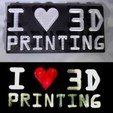Download free 3D printing designs I <3 3D PRINTING LED Sign/Nightlight, Balkhagal4D