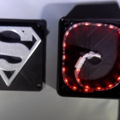 3_display_large.JPG Télécharger fichier STL gratuit SUPERMAN LED Lumière / Lumière de nuit • Plan imprimable en 3D, Balkhagal4D